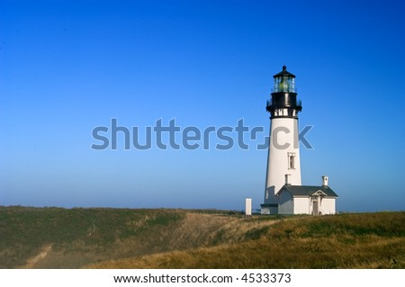 Yaquina Head lighthouse, on Pacific Ocean, tallest in Oregon