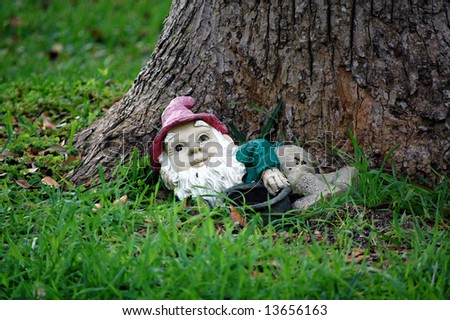 yard gnome - stock photo