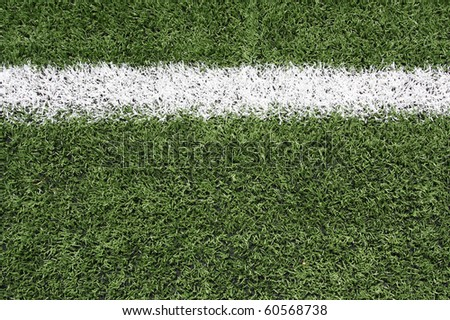 Yard Line of a Football Field with room for copy - stock photo