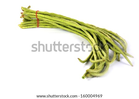 yard long bean isolated  - stock photo