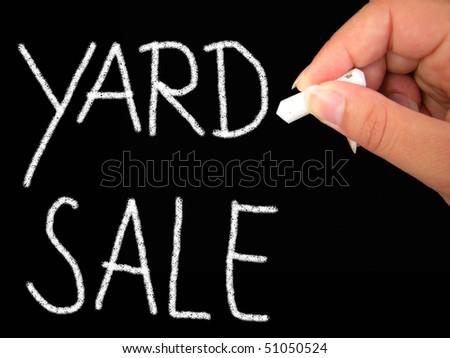 yard sale - stock photo