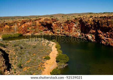 Yardie Creek Gorge Western Australia - stock photo