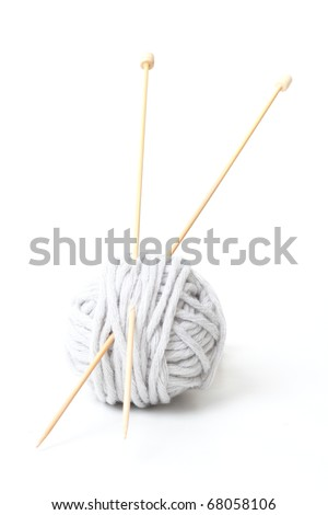 Yarn and sticks - stock photo
