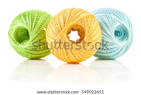 Yarn balls isolated on white