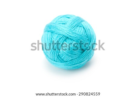 yarn in balls isolation on a white background - stock photo