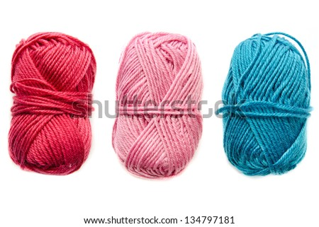 yarn isolated on a white background - stock photo
