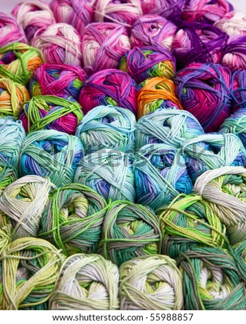 yarn on the market - stock photo