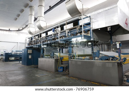 yarn sizing machine in a weaving textile mill.