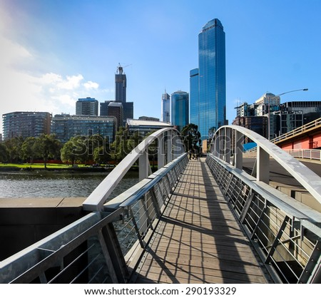 Yarra River, Melbourne - stock photo
