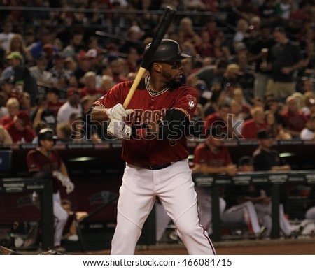 Yasmany Thomas out fielder for the Arizona Diamondbacks at Chase Field in Phoenix,AZ USA August,7,2016.