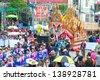 YASOTHON,THAILAND-MAY 11:Car is decorated head of the serpent on parades in Rocket festival. The celebration for plentiful rains during the rice plant season,on May11,2013 in Yasothon,Thailand. - stock photo