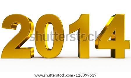 year 2014 - stock photo