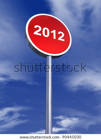 year 2012 banner - stock photo