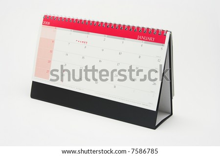 Year 2008 calendar showing the month of January - stock photo
