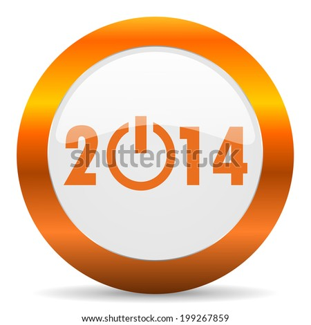 year 2014 computer icon on white background
