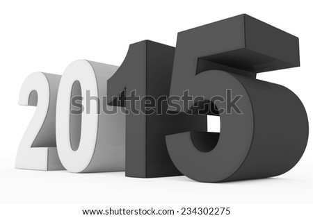 year 2015 count - stock photo