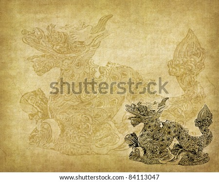 year of dragon,Dragon and texture background