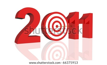 Year 2011 Target - stock photo