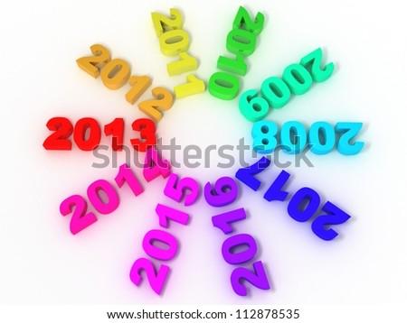 Years passing. 2012 - stock photo