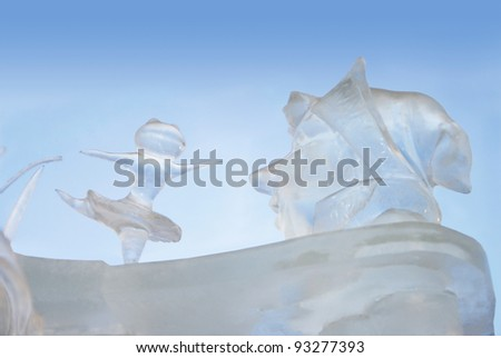 """YEKATERINBURG - JANUARY 03: """"Fool you, Ivan"""" by Ivan Zverev, annual competition of ice shapes, January 03, 2012 in Yekaterinburg, Russia - stock photo"""