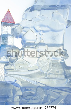 """YEKATERINBURG - JANUARY 03: """"Rotislava"""" by Alexei Akhmetov, annual competition of ice shapes, January 03, 2012 in Yekaterinburg, Russia - stock photo"""