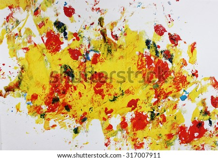 Yellow abstract art, Interesting abstract background or Colorful abstract background, Fall background, Create, Creative thinking, Art therapy, Colors, Autumn, September abstract art, Abstract art - stock photo