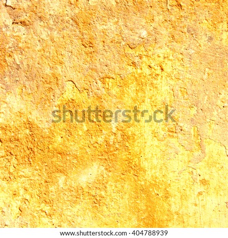 yellow abstract background. Vintage rusty metal texture - stock photo