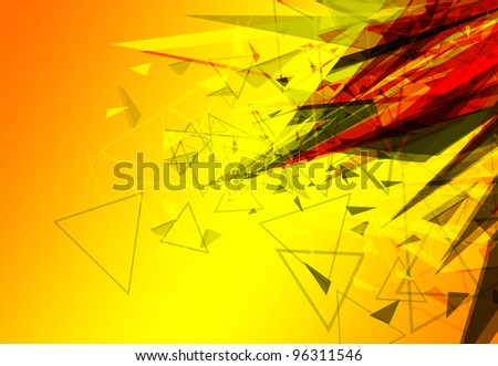 yellow abstract creative background design illustration