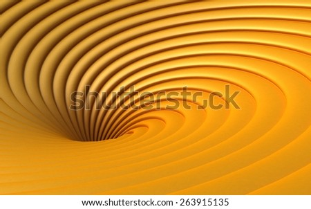 Yellow Abstract 3d Vortex - stock photo
