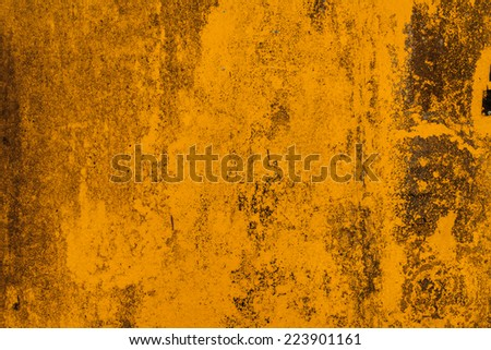 Yellow abstract rusty background. - stock photo