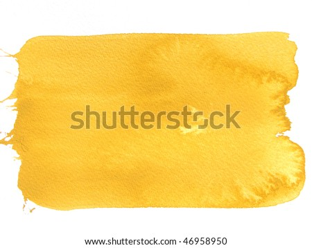 yellow abstract watercolor background - stock photo