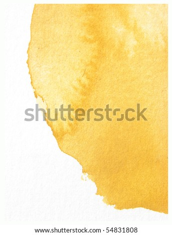 yellow  abstract watercolor background design - stock photo