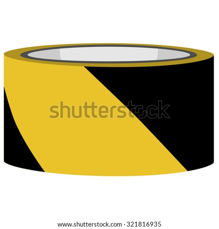 Yellow and black danger tape raster, caution tape, police tape - stock photo