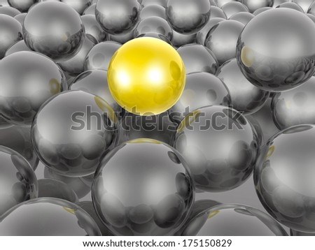 Yellow and black spheres as abstract background.