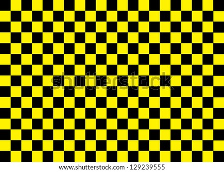 Yellow and Black Squares - stock photo