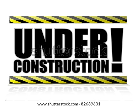 yellow and black under construction sign