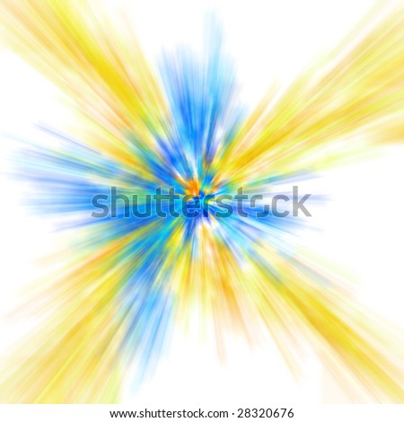 yellow and blue abstract background - stock photo