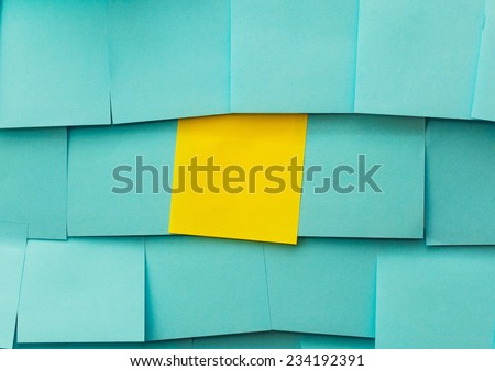 Yellow and blue sticky note like a background for concept - stock photo