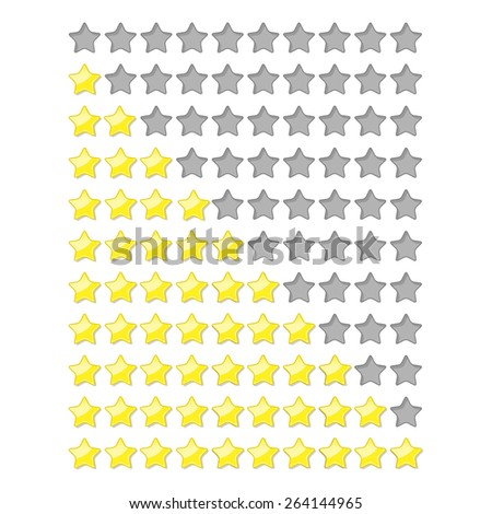 Yellow and gray shapes with shadow and reflection on white - stock photo