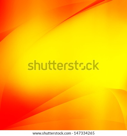 Yellow and orange abstract gradient background - stock photo