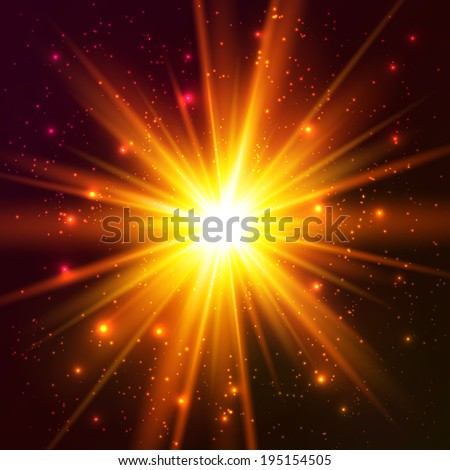 Yellow and orange colors cosmic explode - stock photo