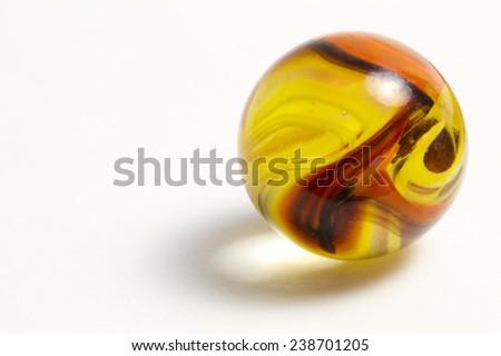 Yellow and Orange Swirl Marble - stock photo