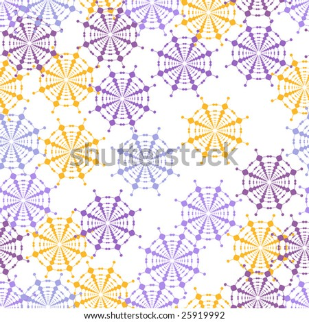 yellow and purple abstract flower seamless background pattern - stock photo