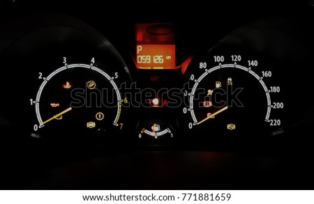 Car Warning Lights Stock Images RoyaltyFree Images Vectors - Car image sign of dashboardcar dashboard icons stock photospictures royalty free car