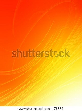 Yellow and red swirling background with a high-tech feel.