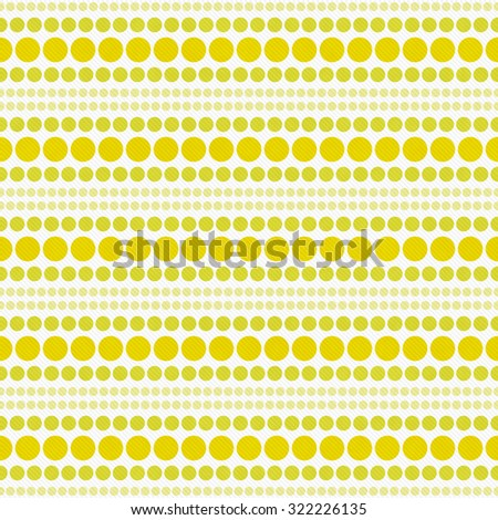 Yellow and White Polka Dot Abstract Design Tile Pattern Repeat Background that is seamless and repeats - stock photo