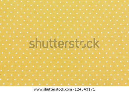 Yellow and White Tiny Distressed Polka Dots Background - stock photo