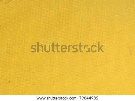 yellow art paper texture - stock photo