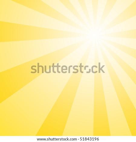 Yellow background bright and upbeat yellow sunshine background - stock photo