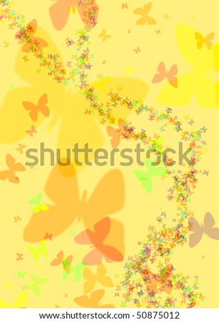 yellow background with butterfly